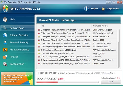 Does this look familiar? Win7 Antivirus 2012